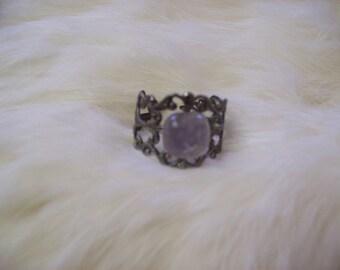 Rose Quartz Filigree Ring