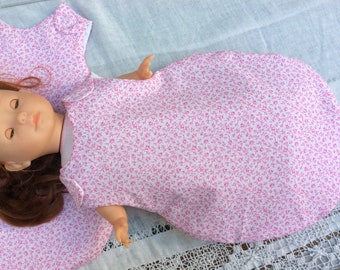 Doll sleeping bag for summer clothes Liberty Michel doll 36 cm
