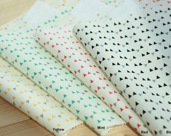 Cotton Fabric Mini Triangle in 4 Colors By The Yard