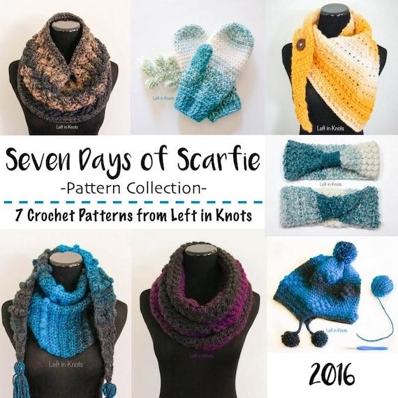 Seven Crochet Patterns Bundle: Seven Days of Scarfie PDF