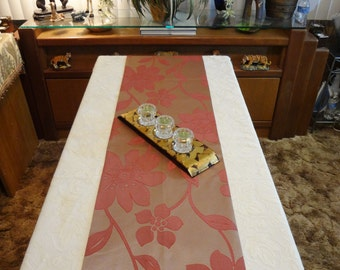 """Table Runner / Bed Throw - Mauve/Burgundy Contemporary/Abstract Floral - Table Decor - 70"""" x 14"""" - Item TR278003"""