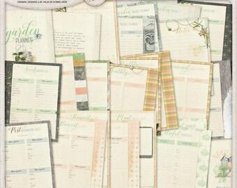 Printable Garden Planner, Seed Starter Log, Harvest Tracker Log, Perpetual Planner Templates, Gardener Gift Idea For Women, Instant Download