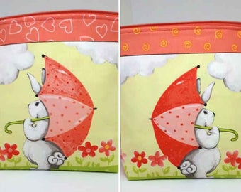 Bunnies and Carrots Project Bag, Travel size, Small