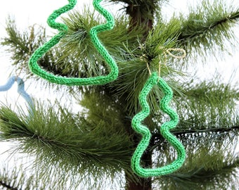 Christmas ornament - ornament Christmas tree - window - Christmas - Santa Claus Christmas tree Decoration - knitting-
