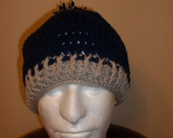 Crochet man hat with pom pom