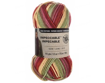 SUMMERSET Impeccable Ombre Yarn. Loops & Threads in a Multi Color 100% Acrylic. Coral Green Yellow. Multi Color Rainbow Yarn 3.5oz 192yd >