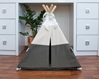 Dog teepee including pillow, dog teepee, cat teepee, pet teepee bed, dog house, cat house, dog bed, cat bed, dorm decor, pet tent, dog tipi