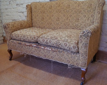 An Antique 2 Seater Drop End Sofa inc. Reupholstery (exc. fabric)