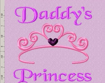 Daddy's Princess Embroidery Design