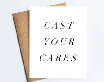 Cast Your Cares - NOTECARD - FREE SHIPPING!