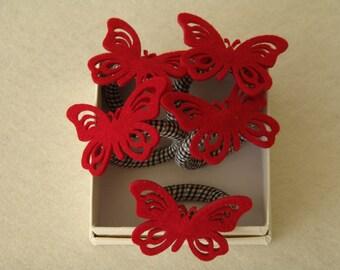 """Κρίκοι Πετσέτας """"Πεταλούδα"""" / Napkin Rings """"Butterfly"""" // """"Red Butterfly"""""""