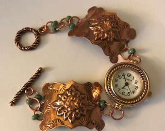 Copper Embossed Watch