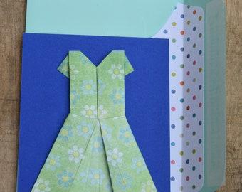 Postcard little blue floral dress