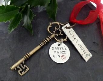 Santa's Magic key ,Santa key,  magic key, Father Christmas ,Santa Claus, Christmas Eve, Kids magic key, Christmas tree decoration,