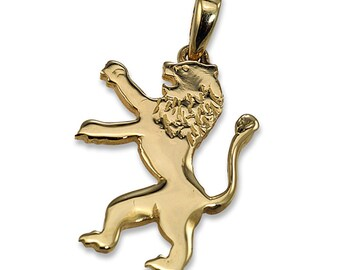 14k Yellow Gold Lion of Judah Large Pendant