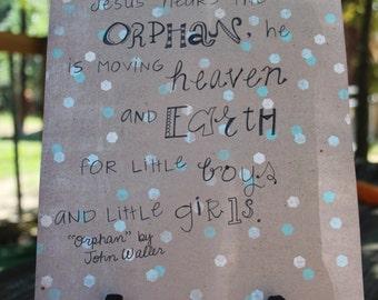 Doodle Art Orphan John Waller song lyrics adoption