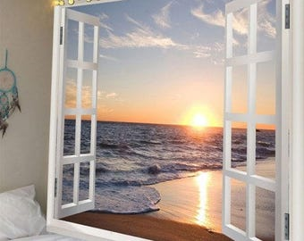 Tapestry Wall Hanging Throw Window View