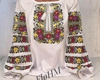 Vyshyvanka Ukrainian Embroidered Blouse , Folk Blouse, Ethno Style