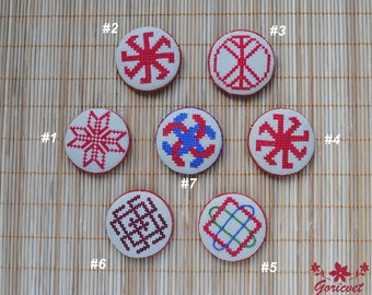 Ukrainian folk art decor refrigerator magnet housewarming gift kitchen decor amulet talisman souvenir handmade ancient symbol fridge magnets