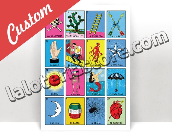 picture regarding Printable Loteria Cards known as Best Tailor made Loteria Playing cards @SE59 Advancedmagebysara