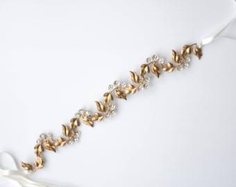 Amelie Sash, Wedding Sash, Bridal Belt, Flower Sash, Leaf Sash, Bridal sash, flower belt, boho sash, Wedding belt, bohemian #151