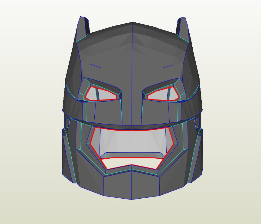 Batman Helmet foam template Bonus Neck Armor Patterns Batman