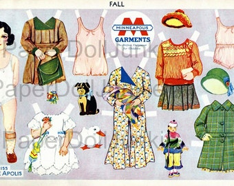 Instant Download Printable Paper Dolls 1940s
