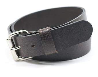 New Mens Handmade Genuine Solid Leather Belt