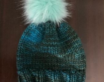 Child knit hat with Pom-Pom