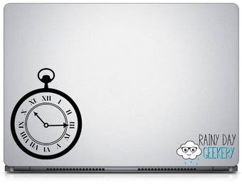 Pocketwatch Decal - Pocket Watch Vinyl Decal - Steampunk Inspired - Car Window Decal or Laptop Decal - Choose your Size and Color