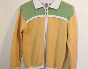 Vintage Zip Up Sweater