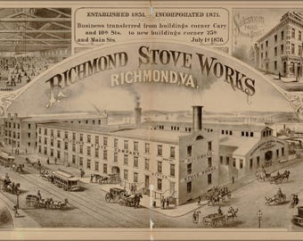 Poster, Many Sizes Available; Richmond Stove Works Virginia 1877