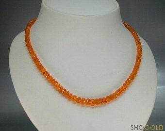 Mandarin Garnet Necklace