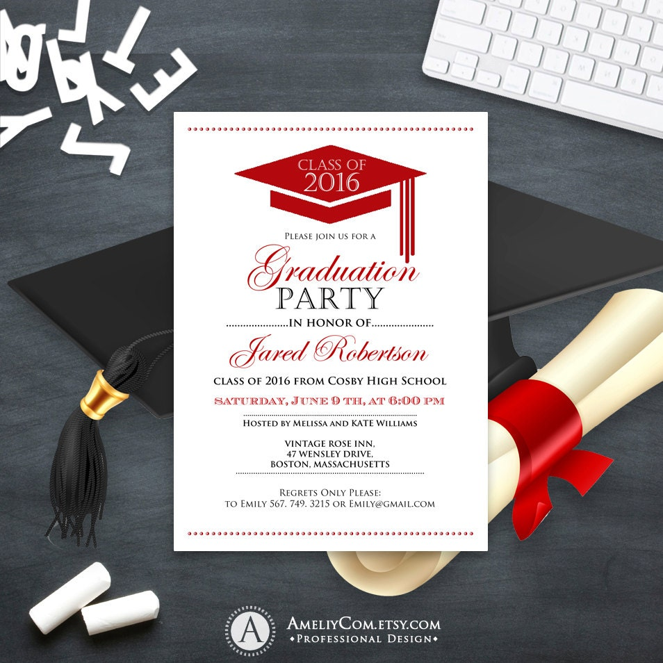 It's just a photo of Gratifying Printable Graduation Invitations