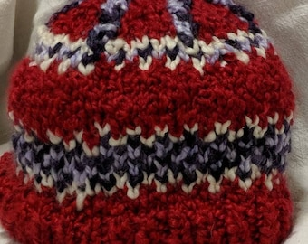hand-knitted intarsia hat