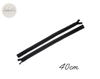 Zipper 40cm black polyester #06 (not separable zipper)