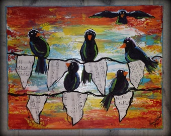 Blackbirds on a Banner
