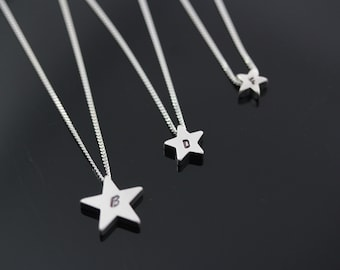 Star necklace, Mother daughter Necklaces, Choose Big Medium or tiny Stars, Silver Stars Necklace, Family Jewelry, Engraved Family Necklace