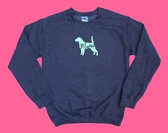 "Beagle ""MAMA"" - Dog Mama Crewneck Sweatshirt"
