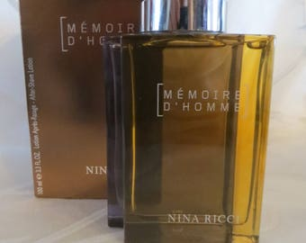 MEMOIRE D'HOMME After shave lotion by Nina Ricci 100ml rare discontinued.