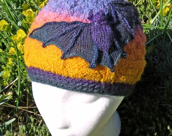 Bats in the Night Sky Beanie knitting pattern