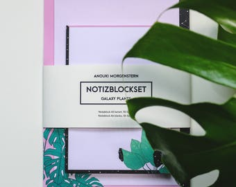 Galaxy Plant Notepad set