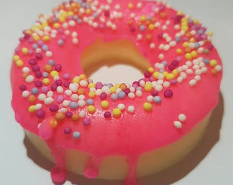 Organic Soap, Donut Soap, Doughnut soap, Pink Doghnut Soap, Novelty Soap, Novelty Gift, Gift For Kids, Valentines day, Party Gift, Birthday