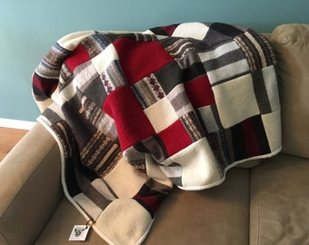 Recycled Wool Quilt - Cozy Brown