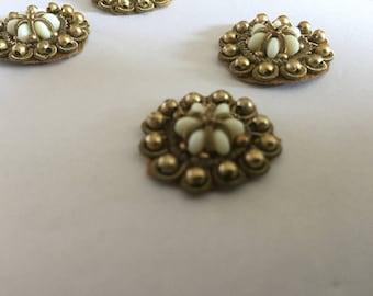 12 pieces Gold Work sew on appliqués,Handmade appliqué , Indian Appliqués ,embroidered sew on appliqué,Handmade Appliqué, Crystal appliqués