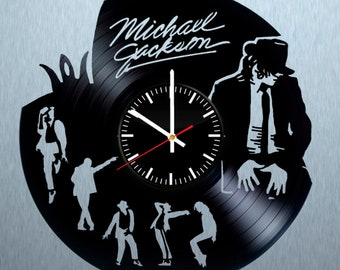Michael Jackson clock, Michael Jackson vinyl, Michael Jackson music, Michael Jackson gift, Michael Jackson decor