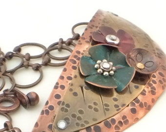 New lower price! copper necklace, copper jewelry, patina copper, OOAK, copper jewelry, gift for her, southwestern jewelry made in Santa Fe