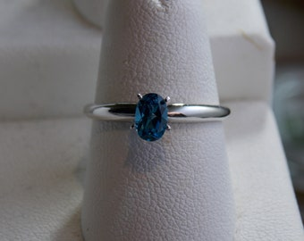 London Blue Topaz in .925 Sterling Silver