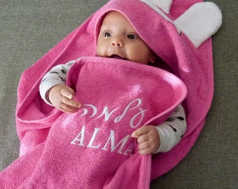 Hebrew baby etsy hebrew monogram baby hooded towel personalized name two words embroidery fine cotton negle Choice Image
