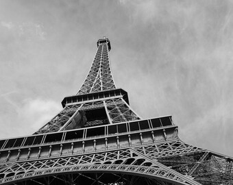 The Eiffel Tower - Free US Shipping - Fine Art Print, Black & White Picture, Photography, Paris, France